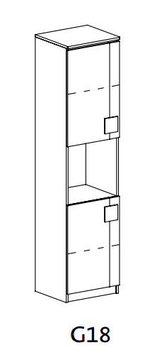 GIMMI G18 policová skříň
