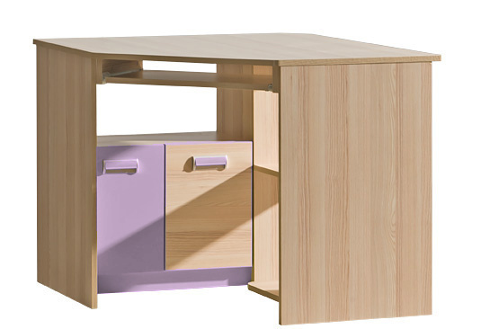 LIMO L11 pracovní rohový stůl fialový