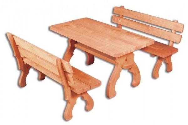 OM-106 zahradní sestava ( 1 x stůl + 2 x lavice )