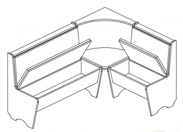 Jídelní rohová lavice CORNER dub sonoma/šedá