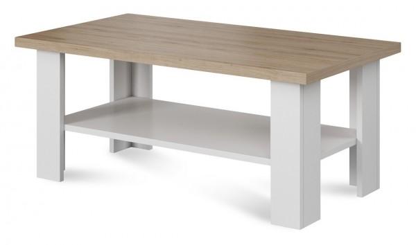 Konferenční stolek VANEL 7, barva dub/bílá