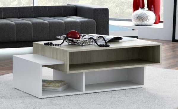 Konferenční stolek ARDO, barva sonoma/bílá