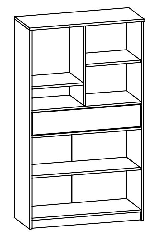 Vysoká komoda TIPS 1B2D1S dub sonoma/bílá mat