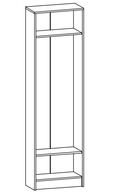 Šatní skříň ORION dub sonoma/bílá