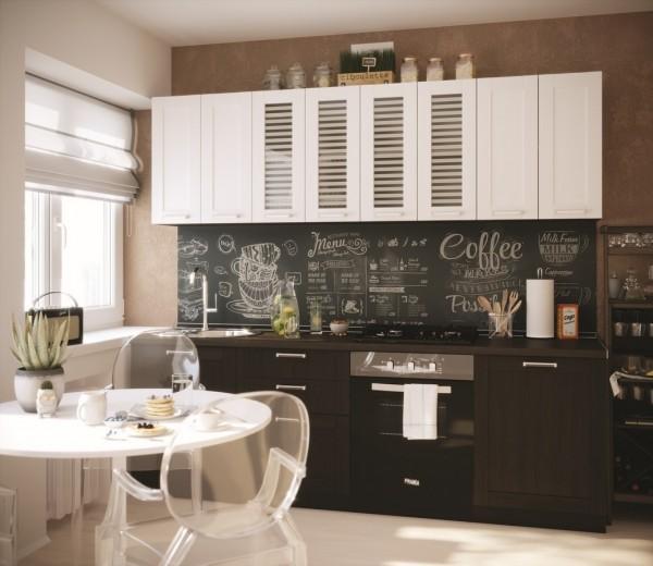 Kuchyně VIRGINIA 240 wk/ewenge/modřín blanco
