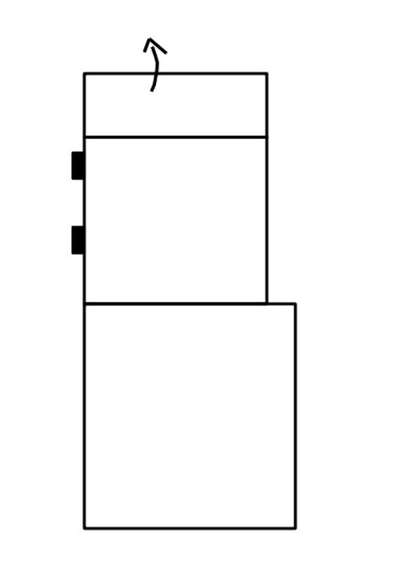Segment otoman s ÚP bez boku SELECT pravý, látky A1