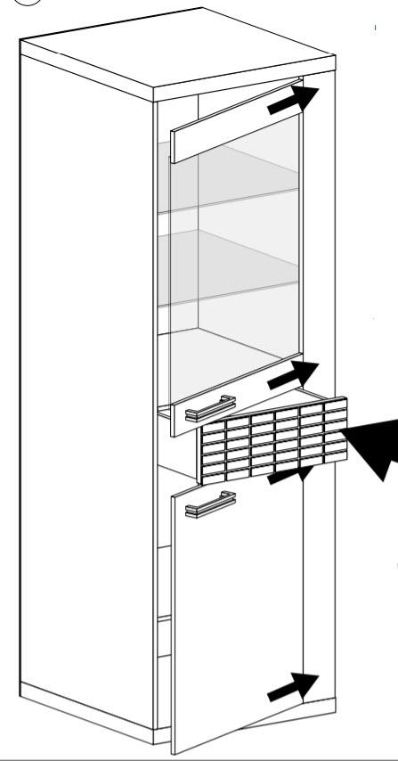 Obývací sestava NATURAL (4+5+11+12) dub ribbeck/kostka