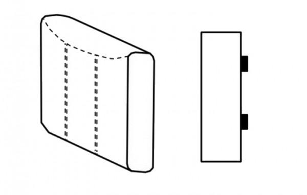 Segment bok D SELECT levý, látky A1