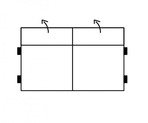 Segment 2-sedák bez boků SELECT, látky A1