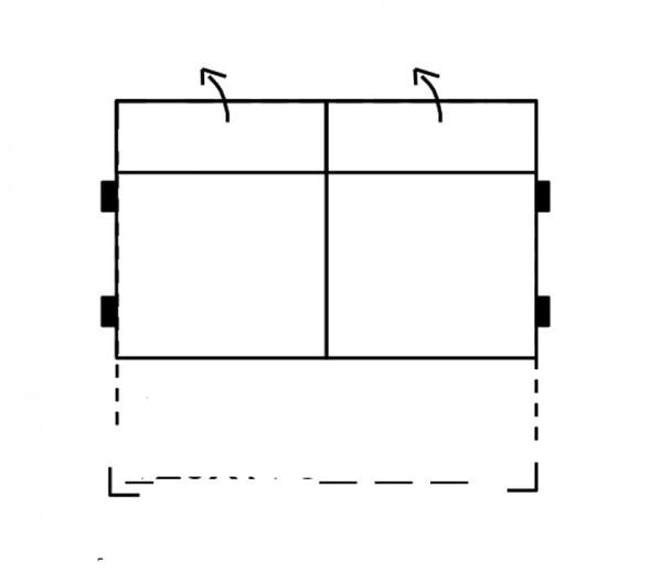 Segment 2-sedák rozkl. bez boků SELECT, látky A1