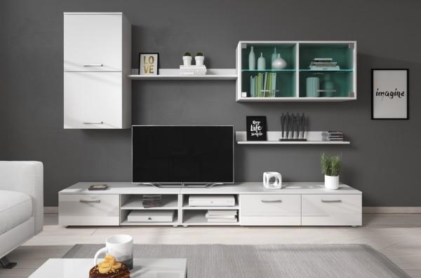 *Obývací stěna VARESA bílá/bílý lesk