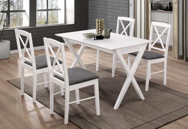 Jídelní čalouněná židle BRIXEN bílá/šedá