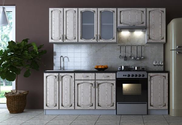 Kuchyně PLATINUM 240 jasan béžový patina