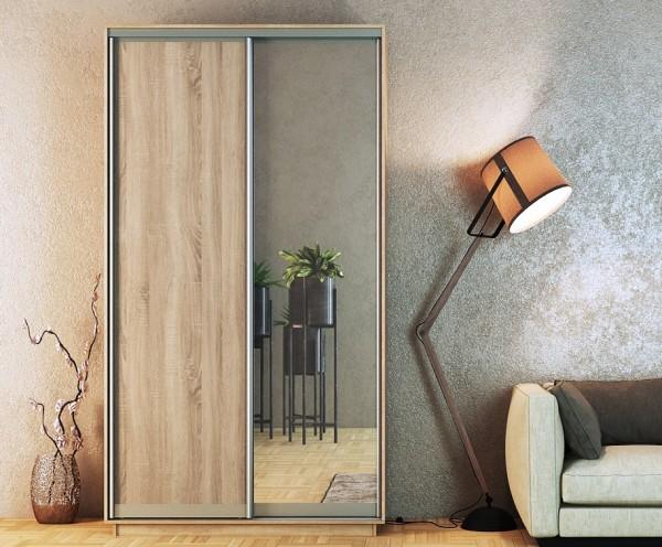 Šatní skříň STANDARD 150 sonoma/zrcadlo/sonoma