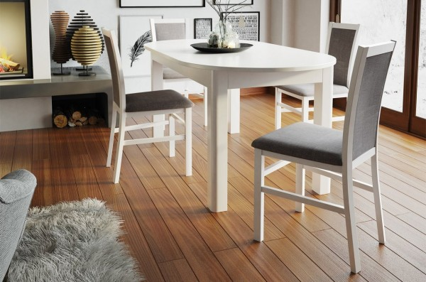 Jídelní čalouněná židle MARE 101 bílá mat