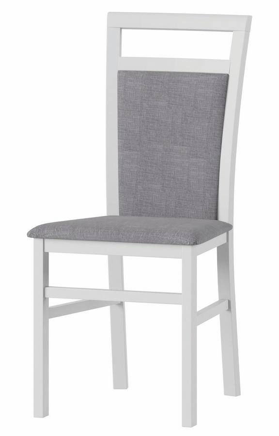 Čalouněná židle LUSIA 101 bílá mat