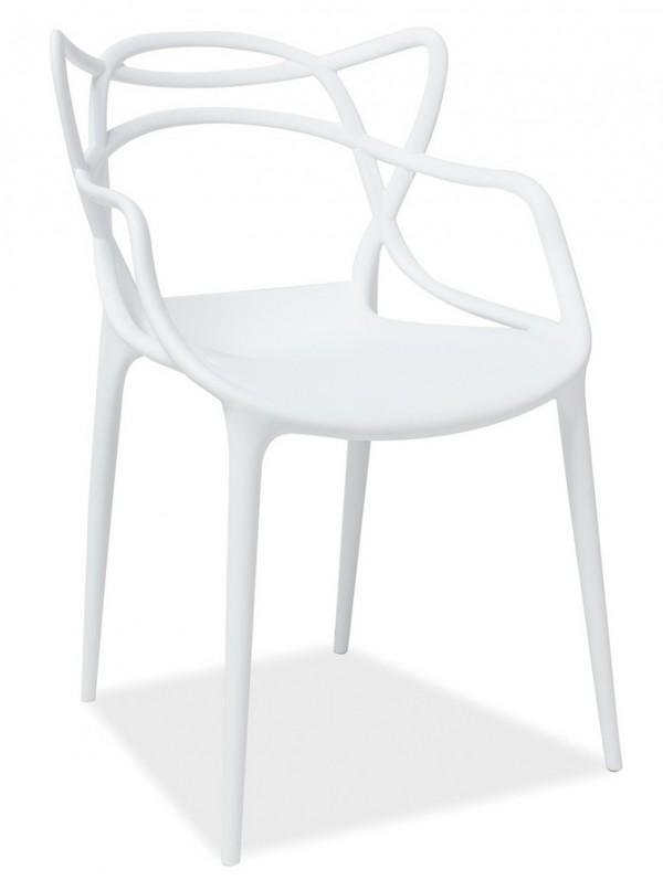 Jídelní židle TOBY bílá