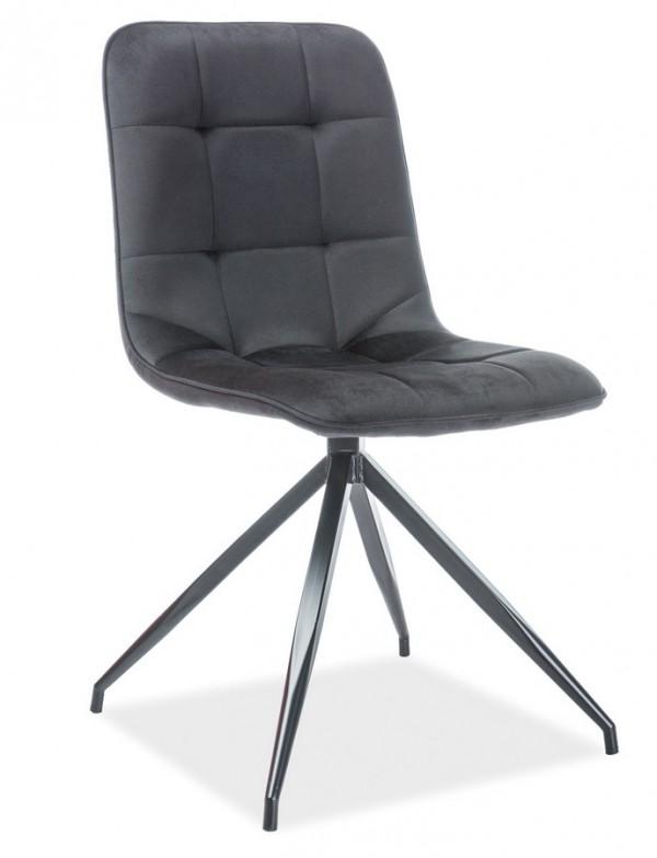 Jídelní čalouněná židle TEXO VELVET černá