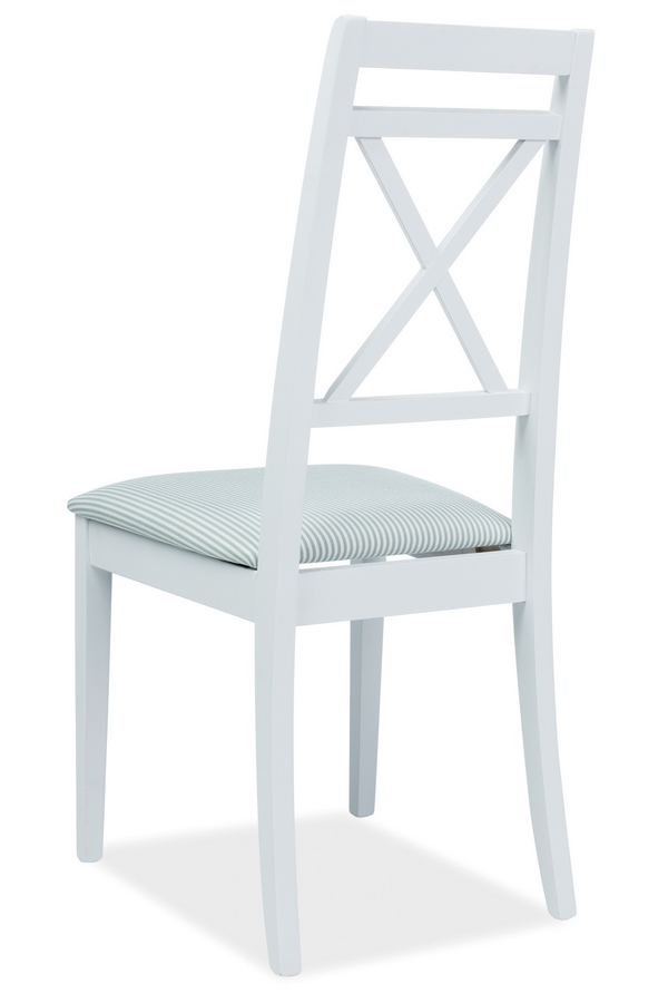 Jídelní čalouněná židle PC-SC bílá/bílo-zelená