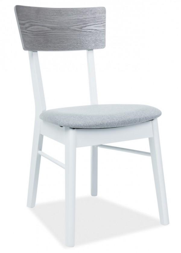 Jídelní čalouněná židle MR-SC bílá/šedá