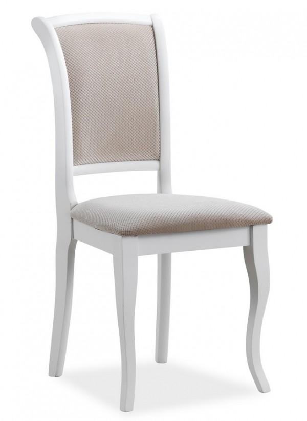 Jídelní čalouněná židle MN-SC bílá/béžová
