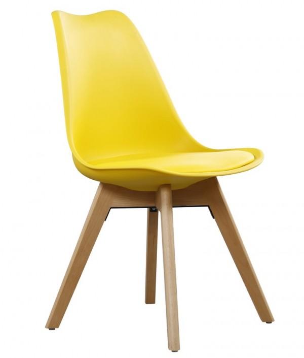 Jídelní židle CROSS II žlutá