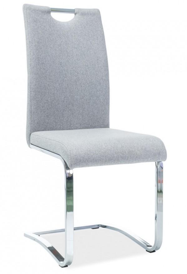 Jídelní čalouněná židle H-790 šedá látka