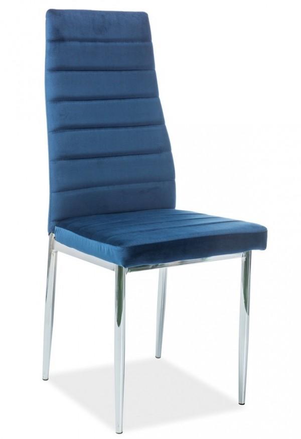 Jídelní čalouněná židle H-261 VELVET modrá