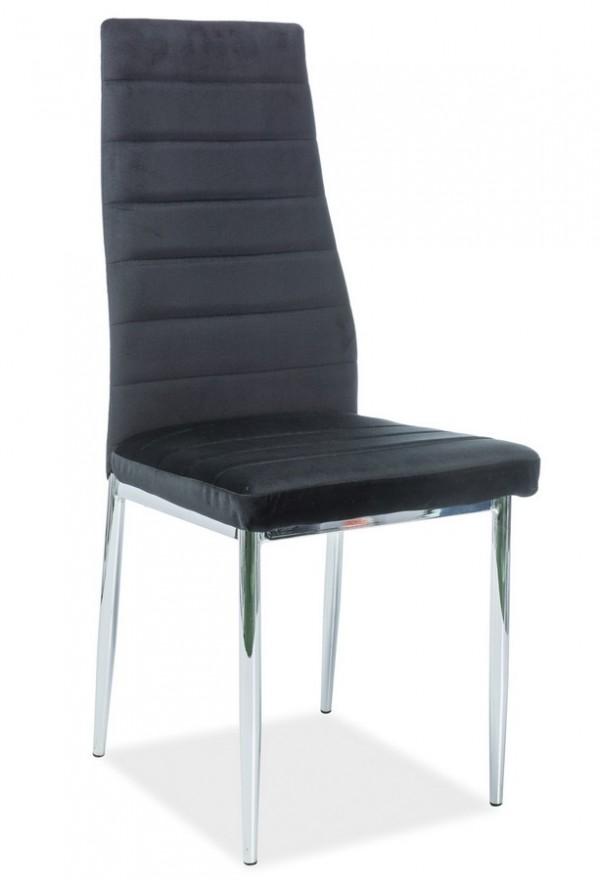 Jídelní čalouněná židle H-261 VELVET černá