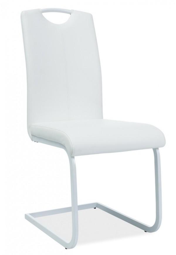 Jídelní čalouněná židle H-148 bílá/bílá