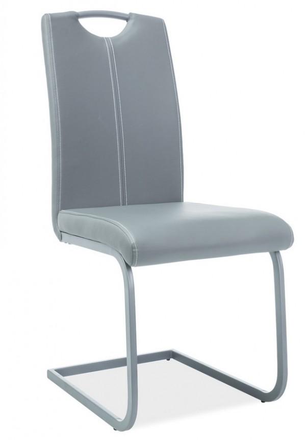 Jídelní čalouněná židle H-148 šedá/šedá