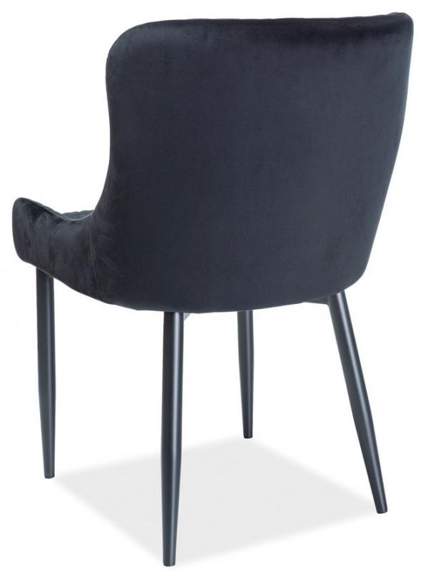 Jídelní čalouněná židle COLIN černá