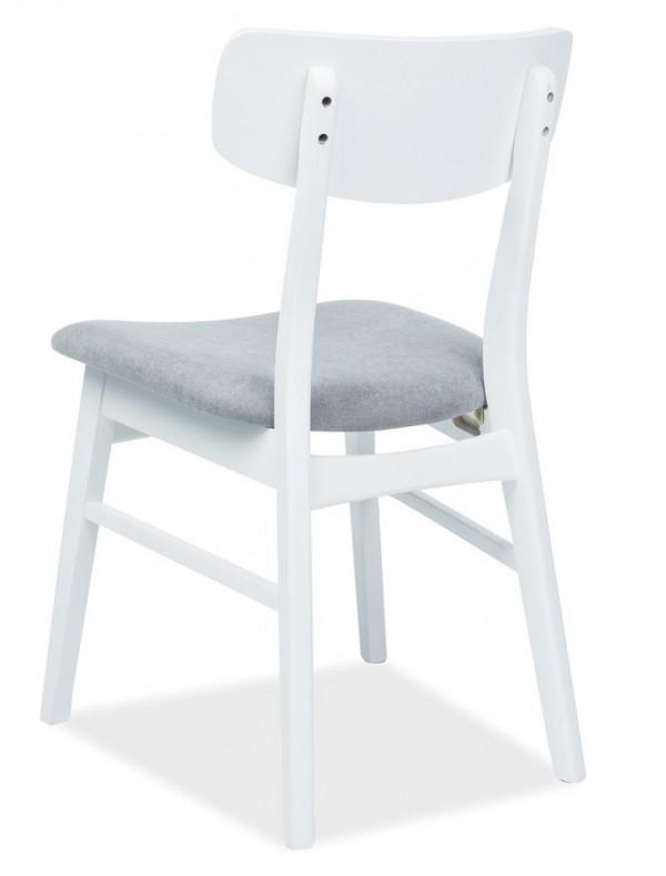 Jídelní čalouněná židle CD-62 šedá/bílá