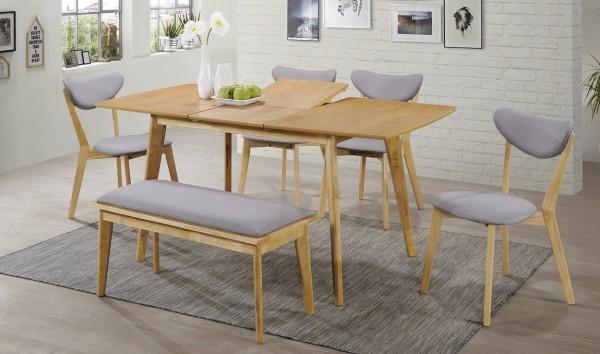 Jídelní čalouněná židle BRANDO šedá/dub