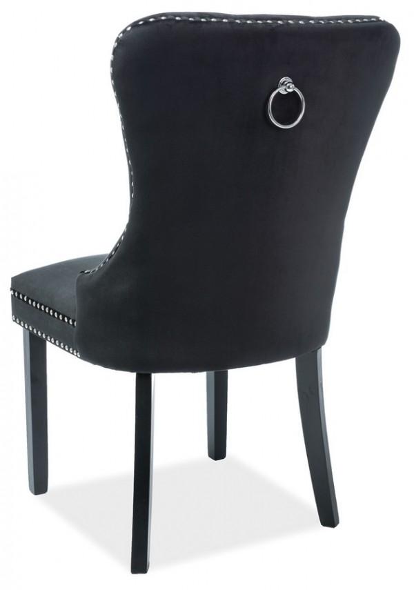 Jídelní čalouněná židle AUGUST VELVET černá/černá