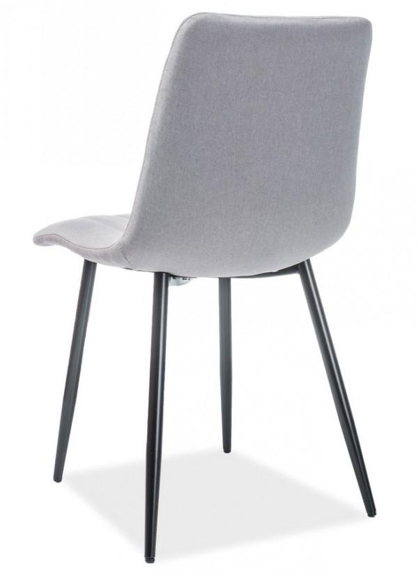 Jídelní čalouněná židle ALAN šedá/černá