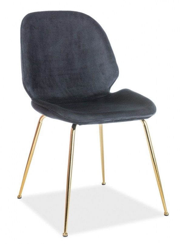 Jídelní čalouněná židle ADRIEN VELVET černá
