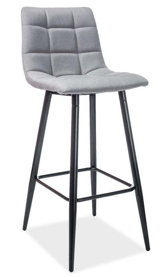 Barová čalouněná židle SPICE H-1 šedá/černá