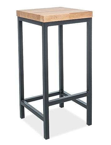 Barová židle METRO H-1 přírodní dýha dub/kov