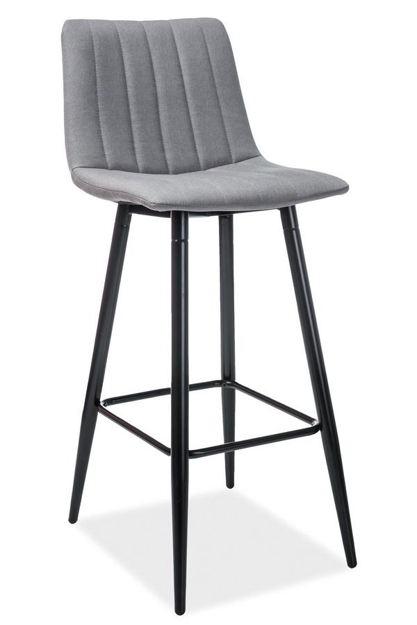 Barová židle ALAN H-1 šedá/černá
