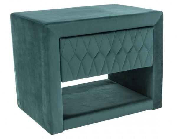 Noční stolek AZURRO VELVET zelená