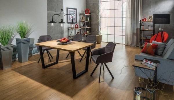 Jídelní stůl VALENTINO 120x80 dub masiv