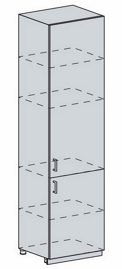 60PV potr. skříň 2-dveřová VALERIA wk/bílá lesk