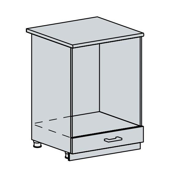 60NT d. skříňka na vestavnou troubu VALERIA wk/bílá lesk