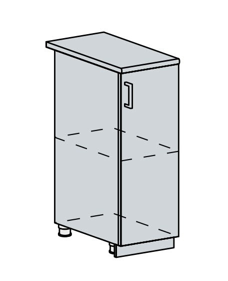 30D d. skříňka 1-dveřová VALERIA wk/bílá lesk