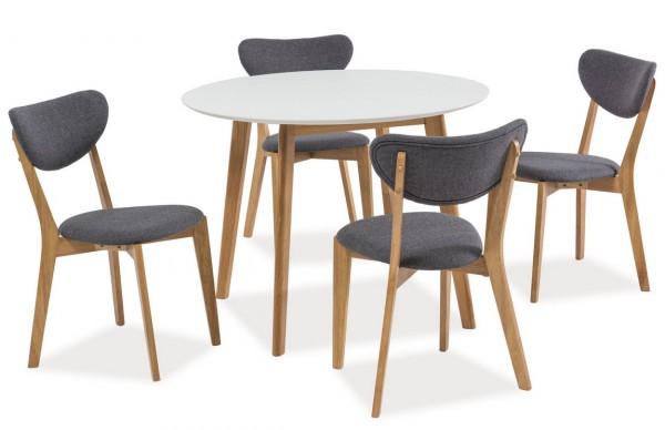 Jídelní stůl MOSSO II 90 dub/bílá
