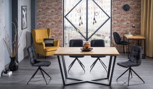 Jídelní stůl MARCELLO 150x90 dub masiv/černá