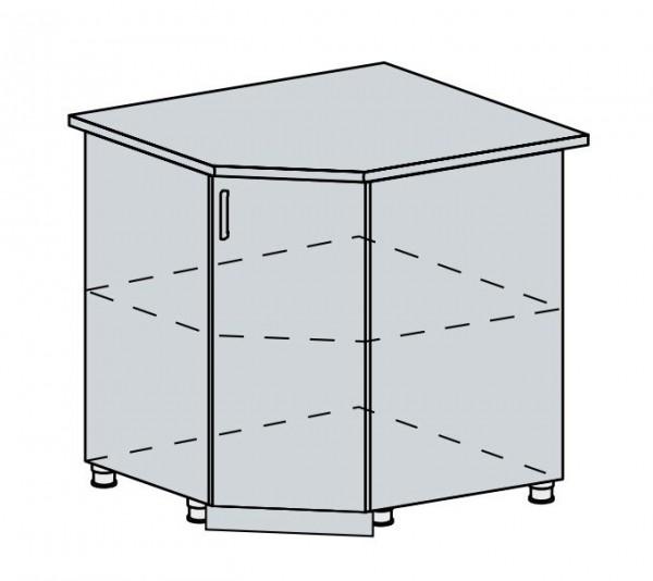 90DRS d. skříňka rohová PRAGA bk/bílá