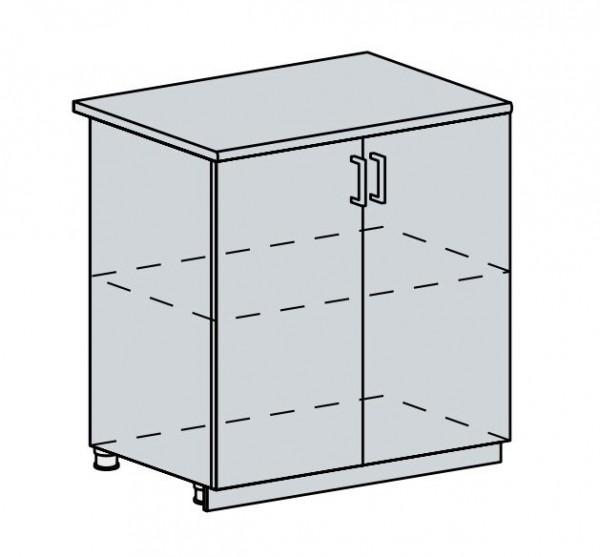 80D d. skříňka 2-dveřová PRAGA bk/bílá