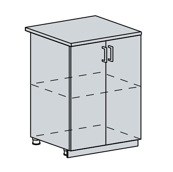 60D d. skříňka 2-dveřová PRAGA bk/bílá